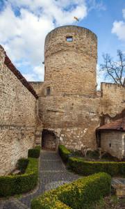Meisenheim am Glan / Ansicht Bürgerturm und Stadtmauer