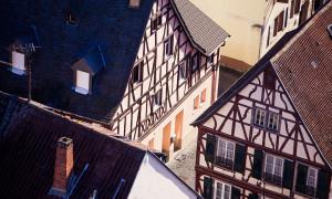 Meisenheim am Glan / Ansicht Häuserdächer