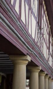 Meisenheim am Glan / Ansicht Markthalle Fachwerk
