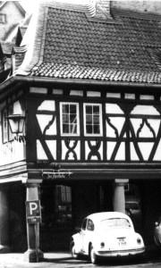 Meisenheim am Glan / Ansicht Markthalle Historie