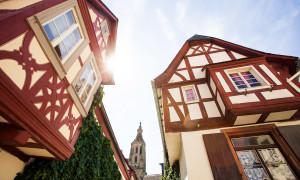 Meisenheim am Glan / Ansicht Obergasse - Schlosskirche