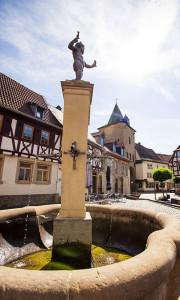 Meisenheim am Glan / Ansicht Rapportierplatz mit Brunnen