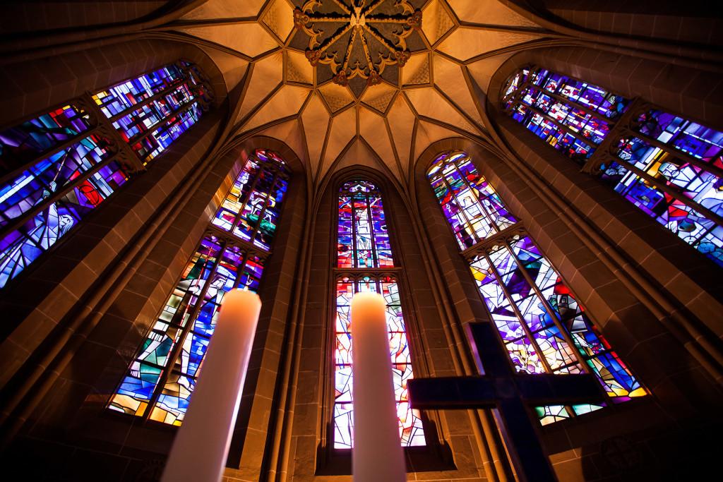 Meisenheim am Glan / Ansicht Schlosskirche Chorfenster