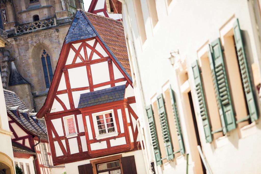 Meisenheim am Glan / Ansicht Fachwerkhäuser Obertor