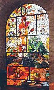 Meisenheim am Glan / Ansicht Ehem. Synagoge Glasgemälde