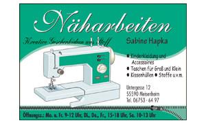 Näharbeiten Sabine Hapka / Logo