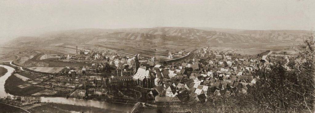 Historisches Panorama von Meisenheim um 1900 - Standort: Juchee